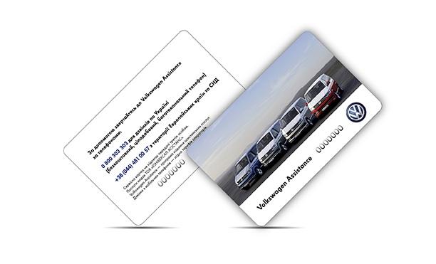 Plastic card Volkswagen