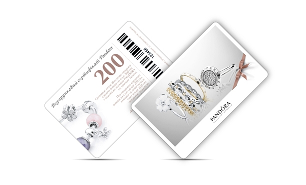 plastic cards Pandora
