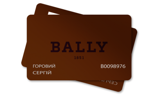 Plastic card Bally