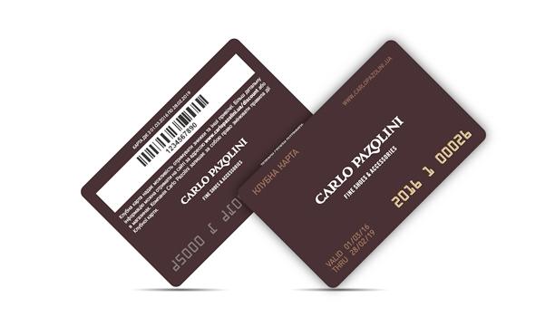 Plastic card Carlo Pazolini