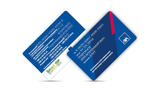 Plastic card Bod AXA